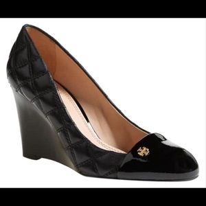 Tory Burch | Patent Leather Claremont Wedges (8.5)